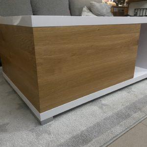 Konferenční stolek dub v kombinaci lamino bílá