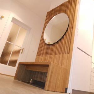 Dřevěné masivní lamelové stěny