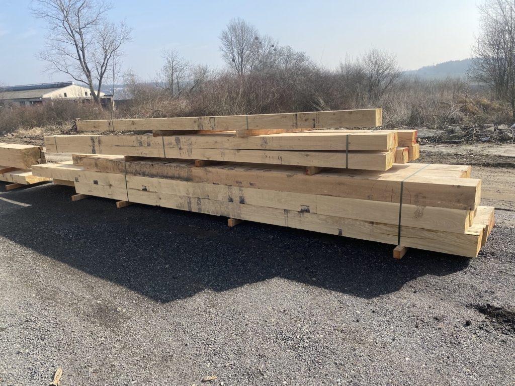 Atypické nadrozměrné dubové posedové trámy 4