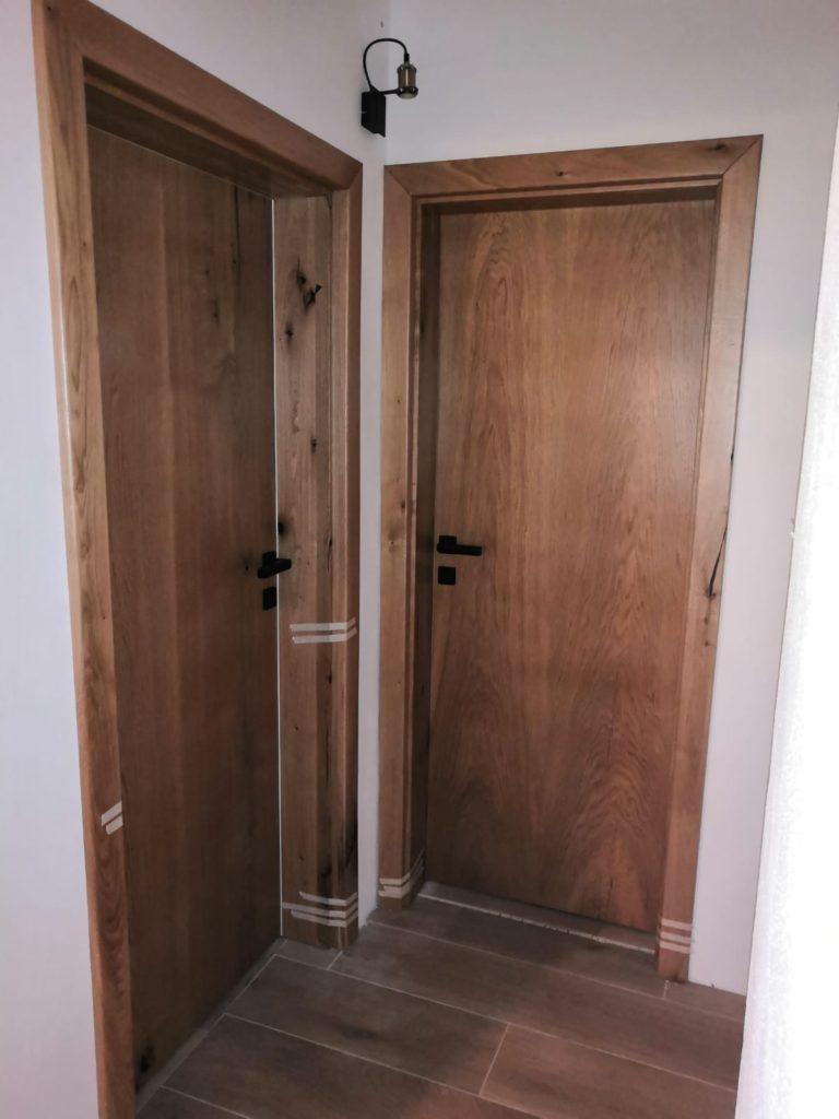 Masivní dubové interiérové dveře 1