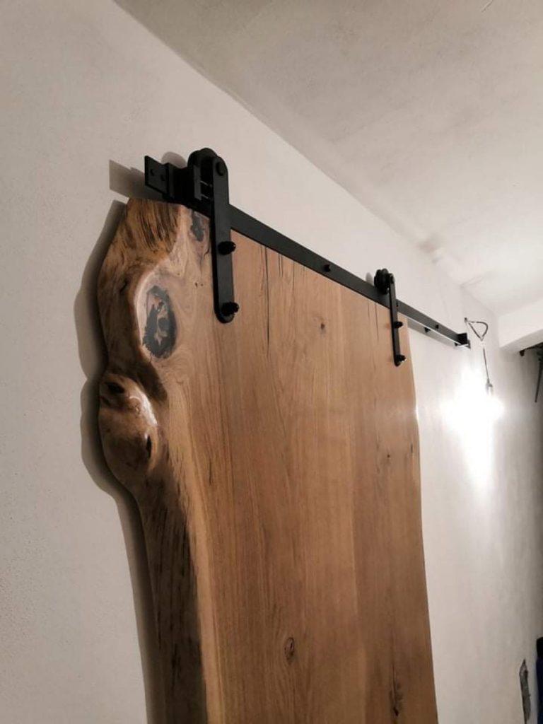 Dubové masivní přírodní posuvné dveře 1