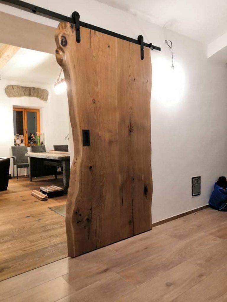 Dubové masivní přírodní posuvné dveře 5
