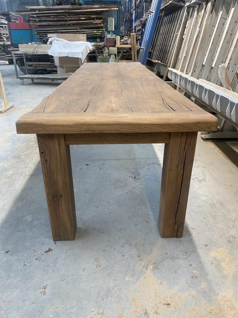 Masivní dubový selský stůl 2