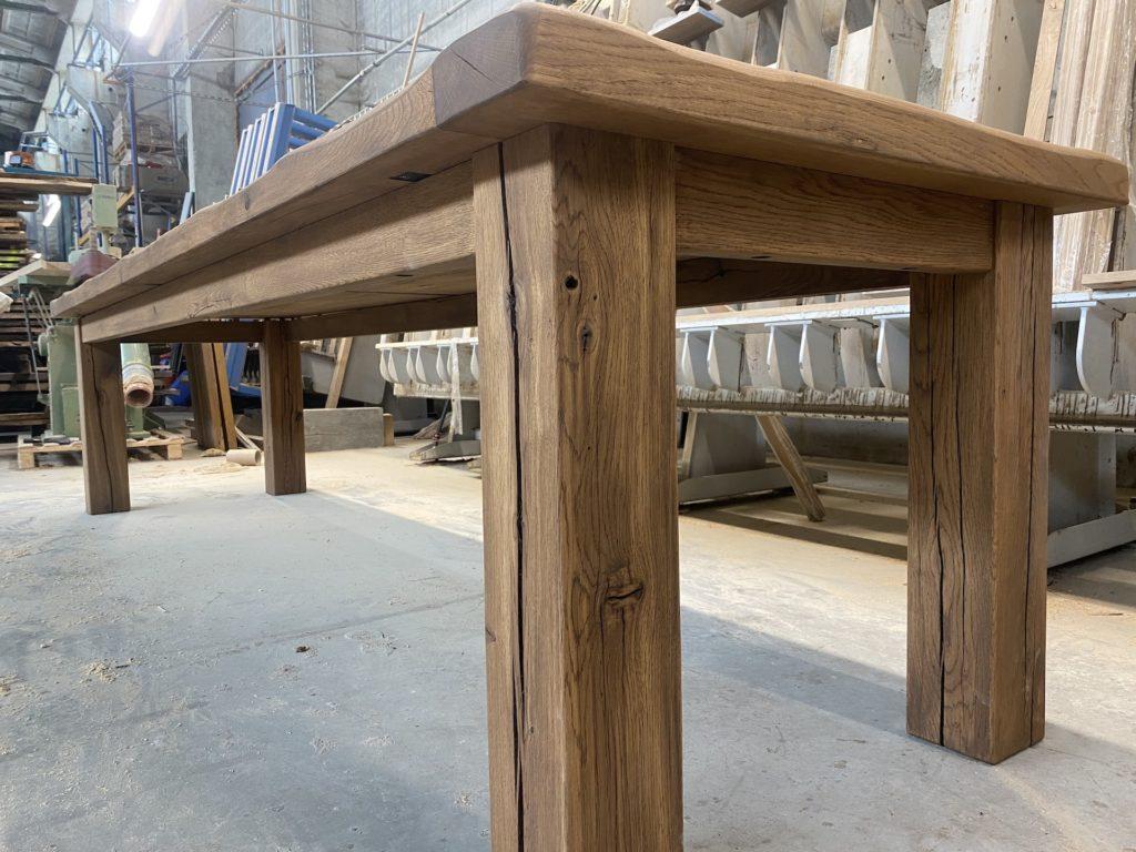 Masivní dubový selský stůl 6