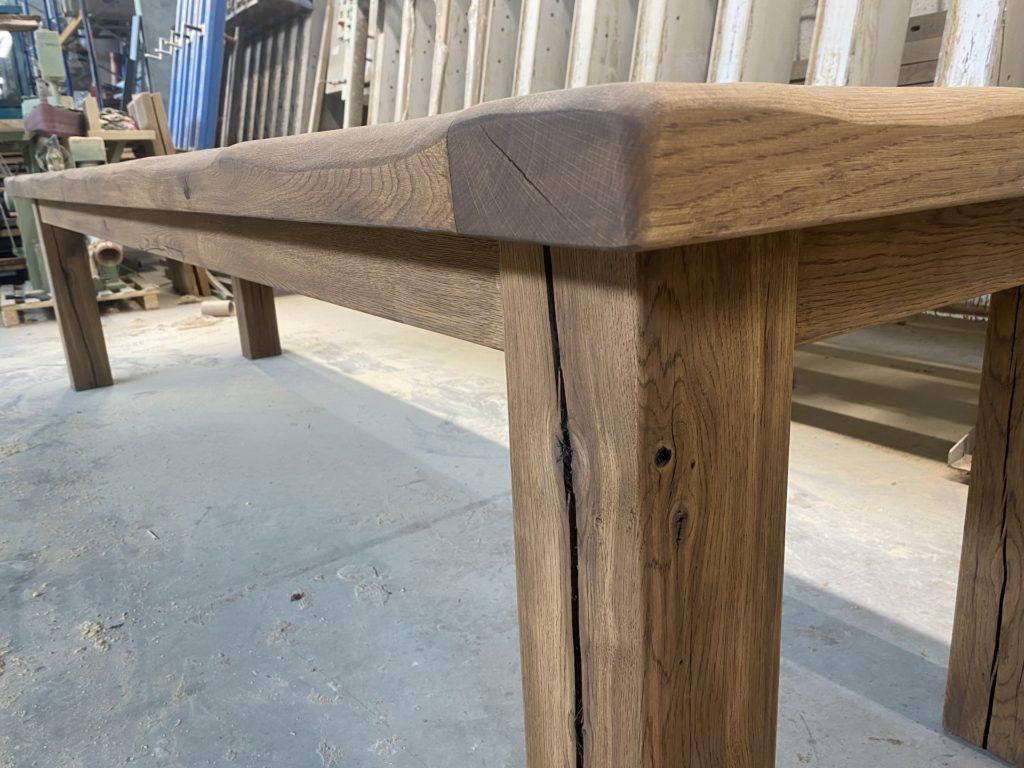 Masivní dubový selský stůl 7