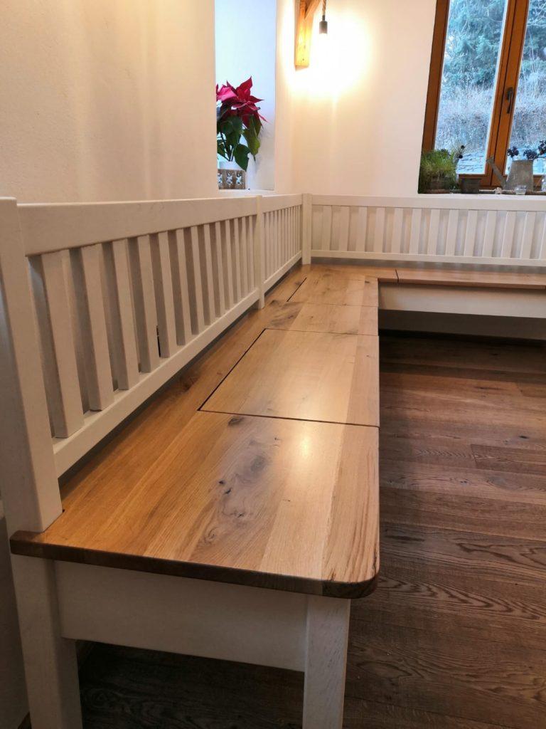 Selská dubová lavice do interiéru 2