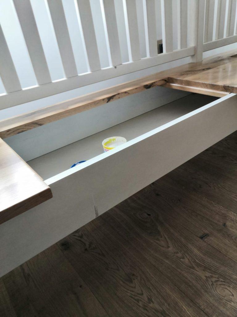 Selská dubová lavice do interiéru 3