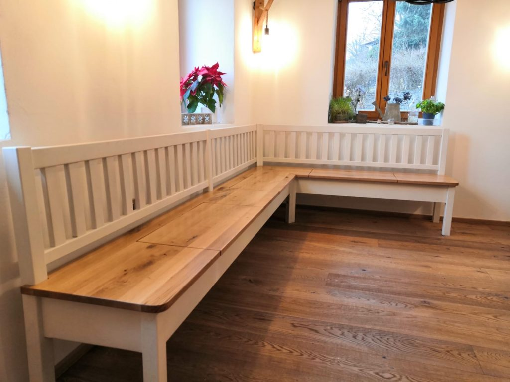 Selská dubová lavice do interiéru 4