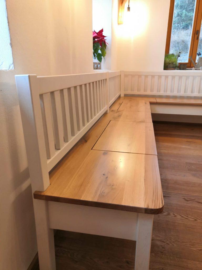 Selská dubová lavice do interiéru 6
