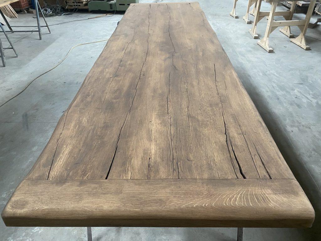 Masivní stolová dubová deska z fošen 3