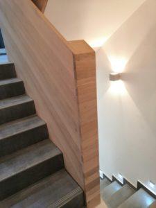 Dubová schodišťová madla, dubové zábradlí