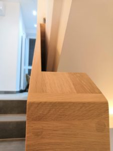 Dubová schodišťová madla, dubové zábradlí 5