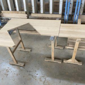 Dubová kuchyňská pracovní deska atypická